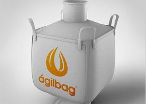 contentor flexível big bag afunilado